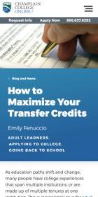 How to Maximize Your Transfer Credits blog post