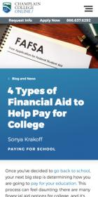 4 Types of Financial Aid to Help Pay for College blog post
