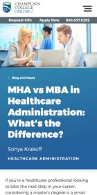 MHA vs MBA in Healchare Administration blog post