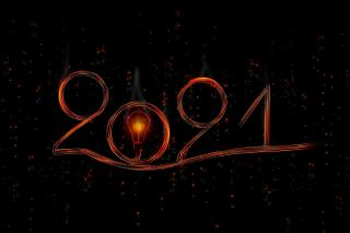 The year 20201 drawn with lights